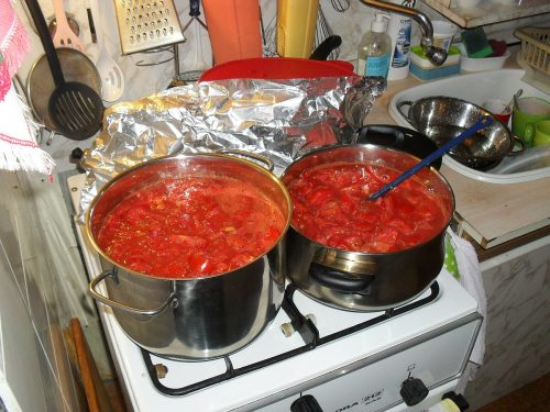 rozvarené paradajky